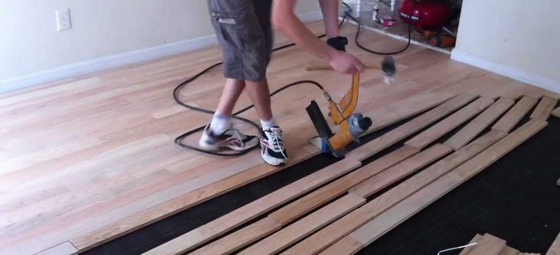 nailing for installing solid hardwood floors