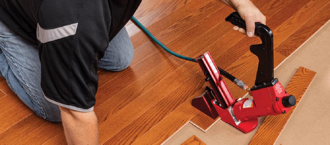 stapling for engineered flooring
